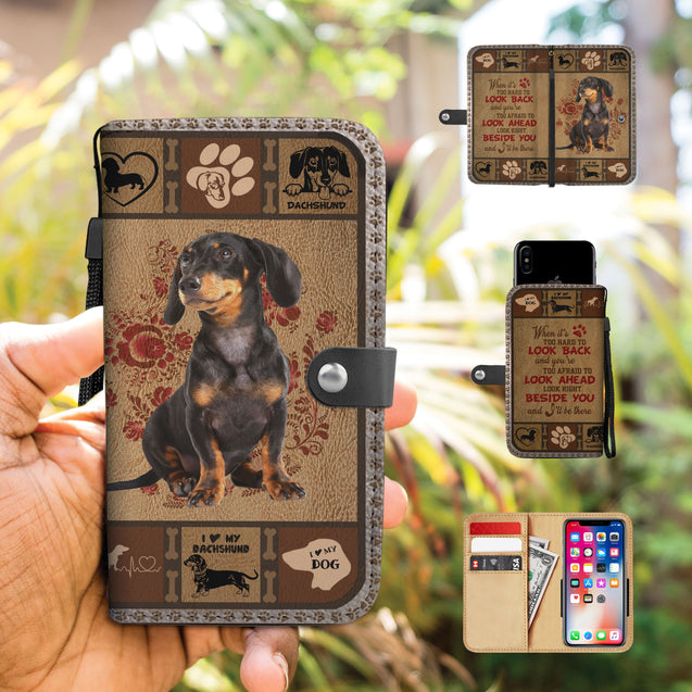 TH 5 Dachshund Will Be There Phone Wallet Case (Ver 2)