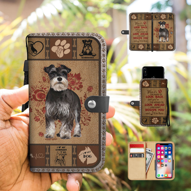 TH 5 Schnauzer Will Be There Phone Wallet Case (Ver 2)