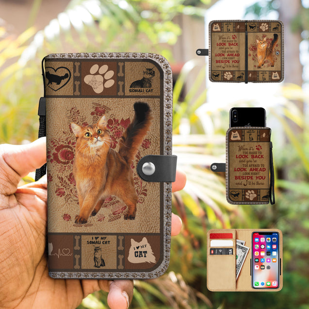 TH 5 Somali Cat Will Be There Phone Wallet Case (Ver 2)