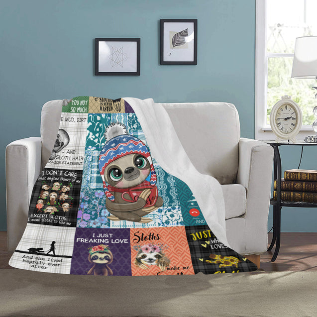 SHN 7 Easily distracted by Sloths Blanket 50'' x 60''