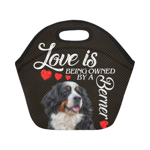 ln bernese mountain love lunch bag
