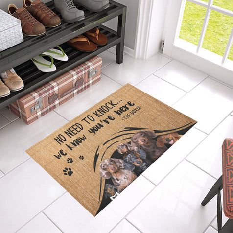ll 1 dachshund we know doormat