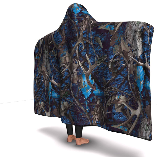 Hooded Blanket  Turquoise Hunting