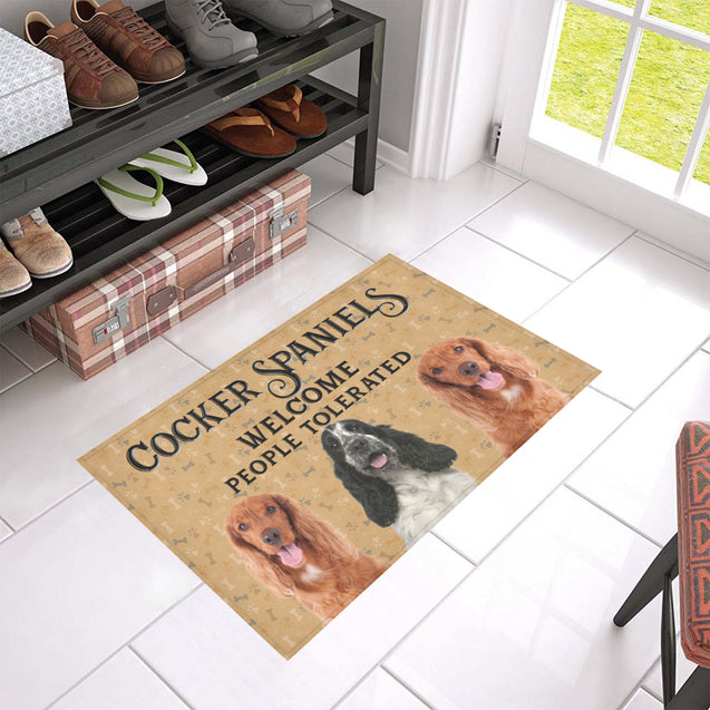 Nh 1 Cocker Spaniel Welcome doormats