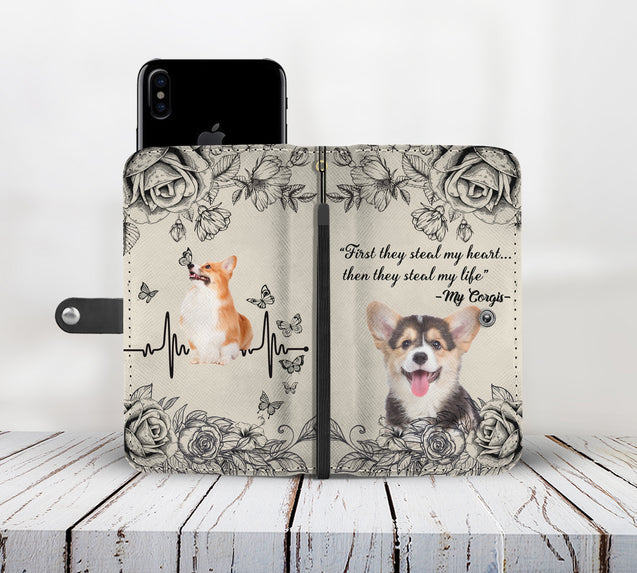 TD Corgis Steal My Life Wallet Case