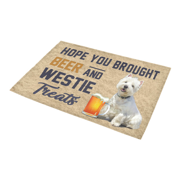 Nh 1 Westie Beer Doormat