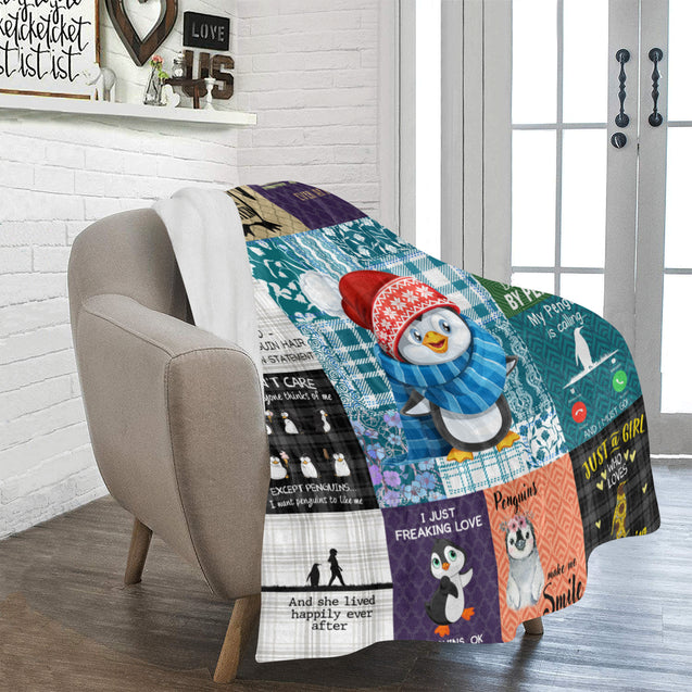 SHN 7 Easily distracted by Penguins Blanket 50'' x 60''