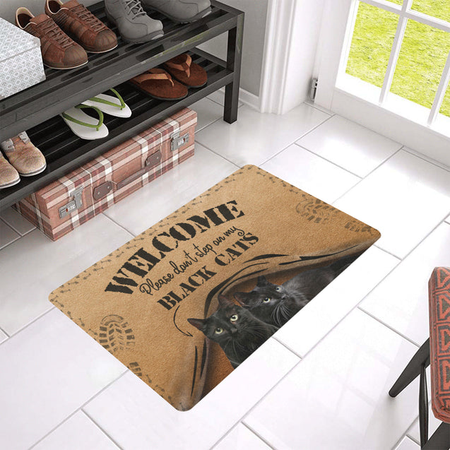 Th 5 Don't Step On Black Cat Rubber Doormats