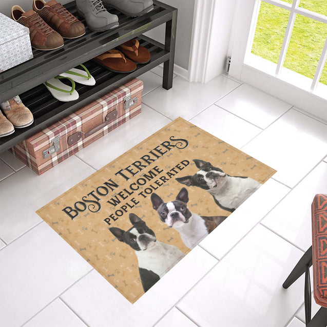 Nh 1 Boston Terriers Welcome doormats