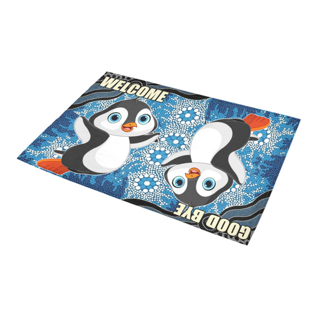 ln penguin goodbye welcome doormat