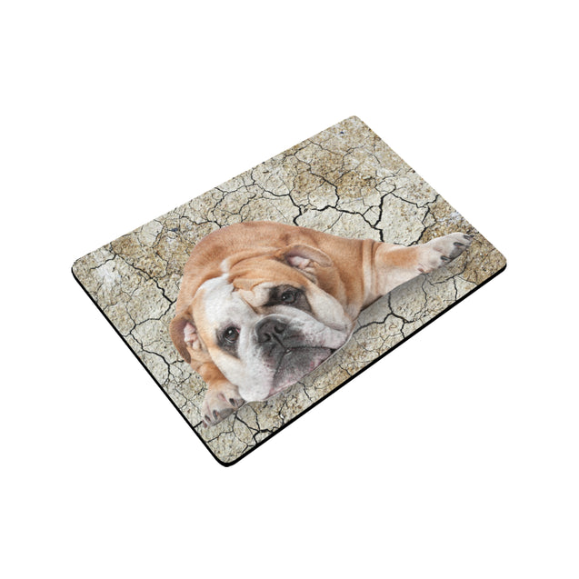 ln bulldog my baby doormat rubber