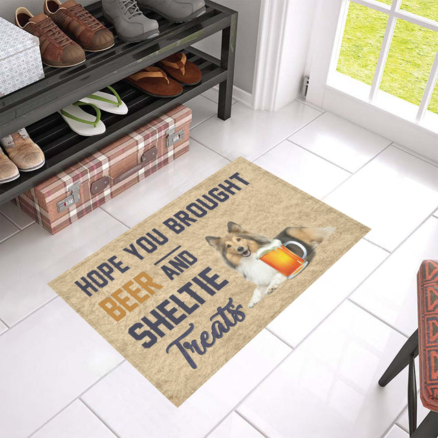 Nh 1 Sheltie Beer Doormat
