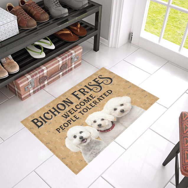 Nh 1 Bichon Frise Welcome doormats
