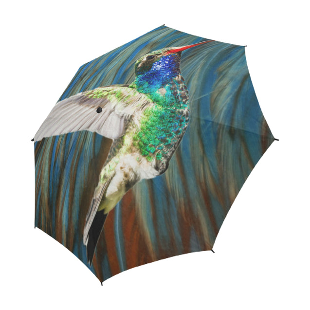 TD 6 Humming Bird Fur Texture Umbrella