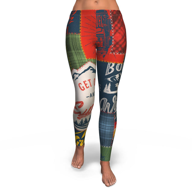 Leggings  Camping Patchwork #1