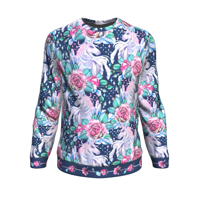 unicorn flower sweatshirt
