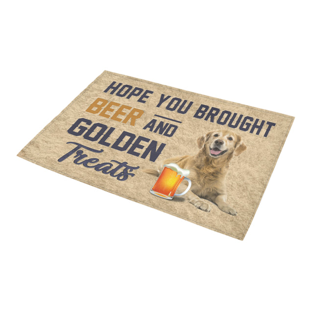 Nh 1 Golden Retriever beer doormat
