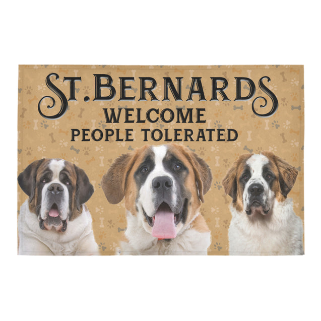Nh 1 St Bernard Welcome doormats