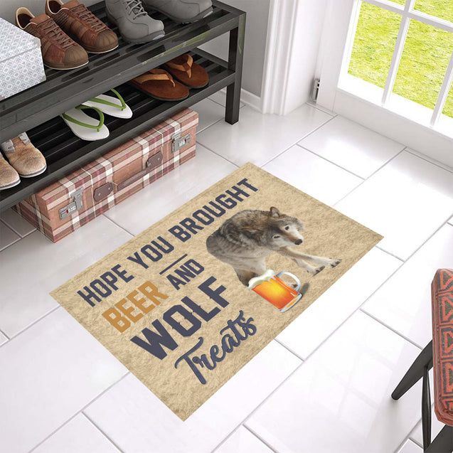Nh 1 Wolf Beer Doormat