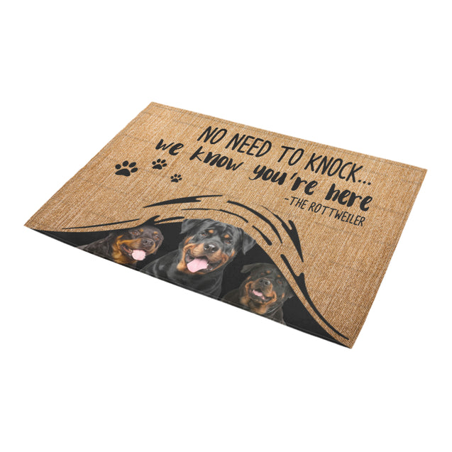ll 1 Rottweiler we know doormat