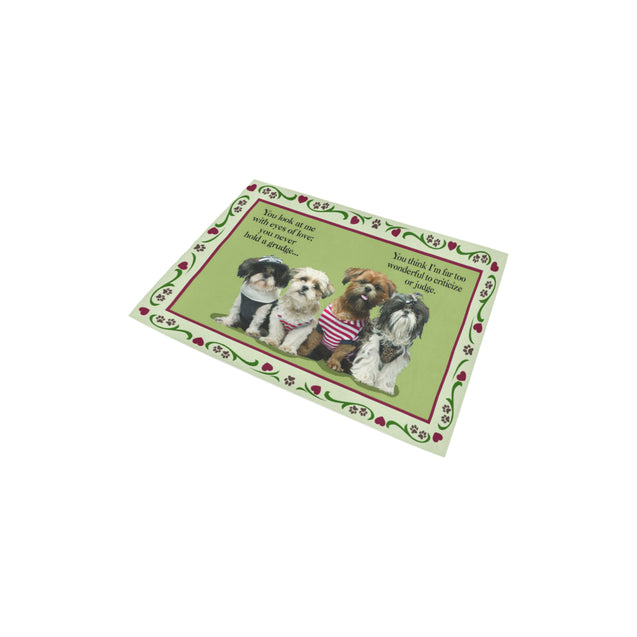 ln shih tzu look area rug