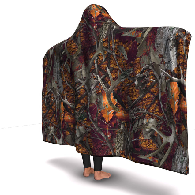 Hooded Blanket  Orange Hunting