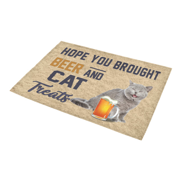 Nh 1 Cat Beer Doormat