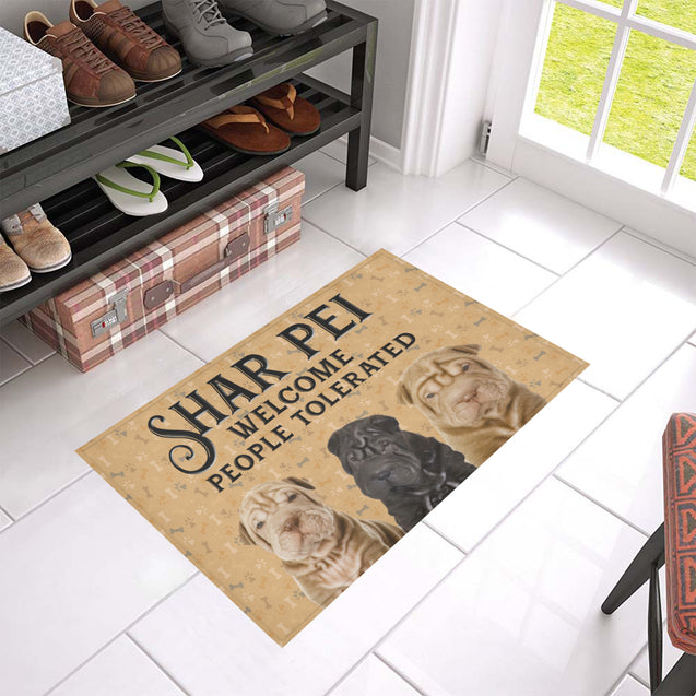 Nh 1 Shar pei welcome doormats