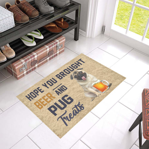Nh 1 Pug Beer Doormat