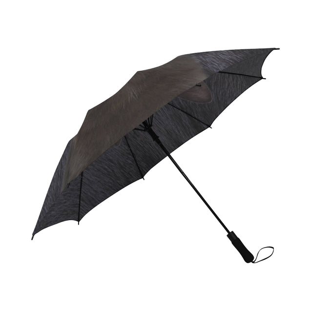 TD 6 Black Cat Fur Texture Umbrella