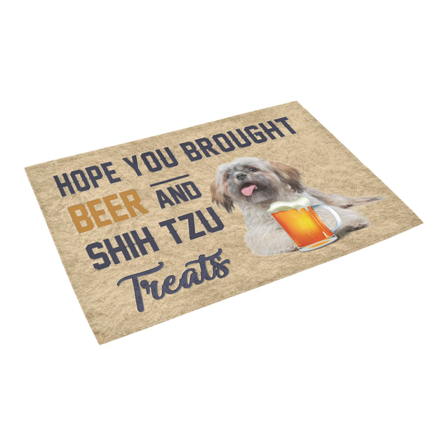 Nh 1 Shih Tzu Beer Doormat