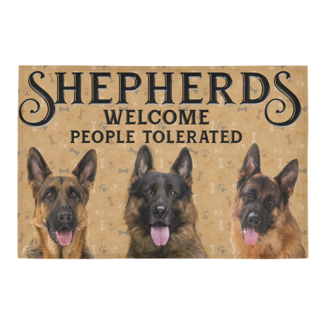Nh 1 German shepherd welcome doormats