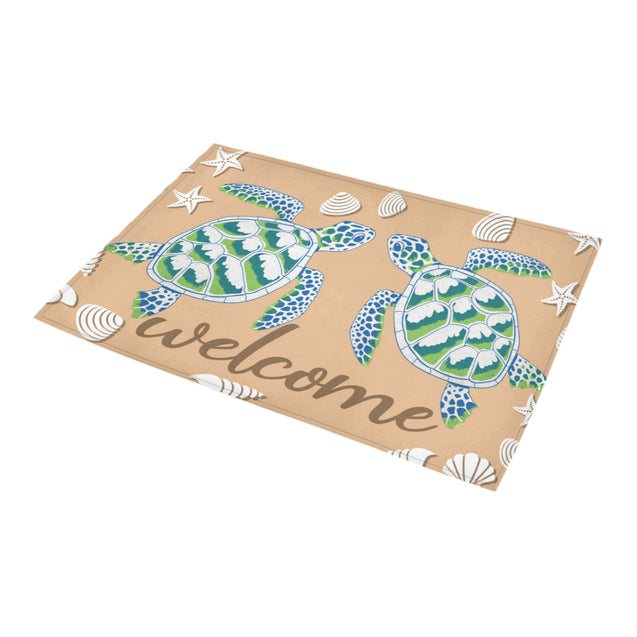 ln 2 turtle welcome doormat