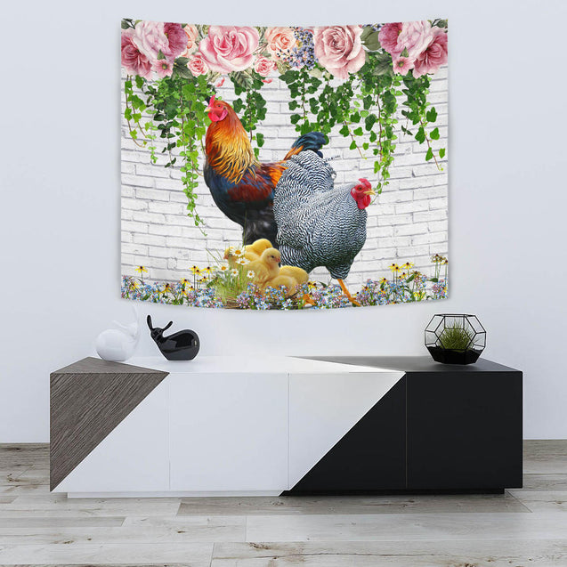 ln chicken beautiful tapestry