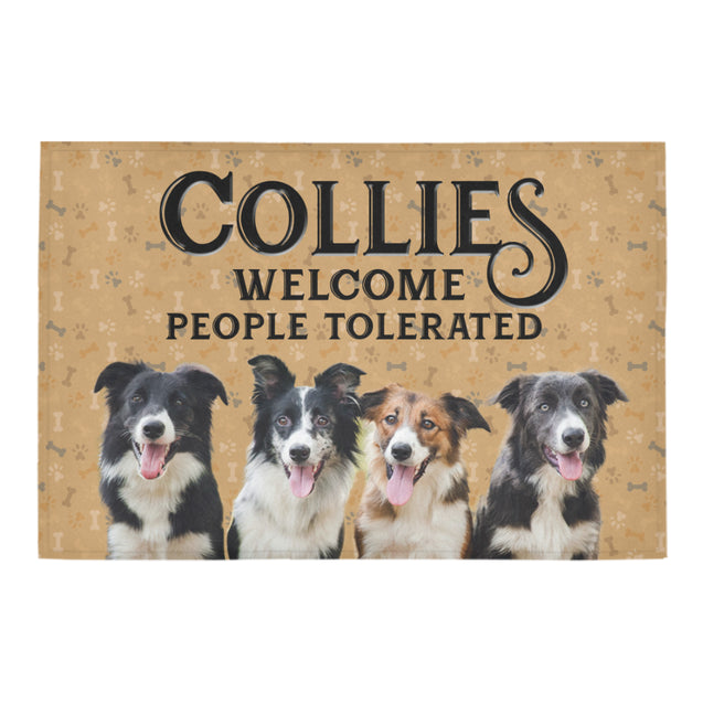 Nh 1 Border Collie Welcome doormats