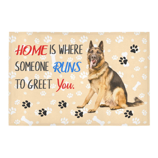 Ta German Shepherd home is where