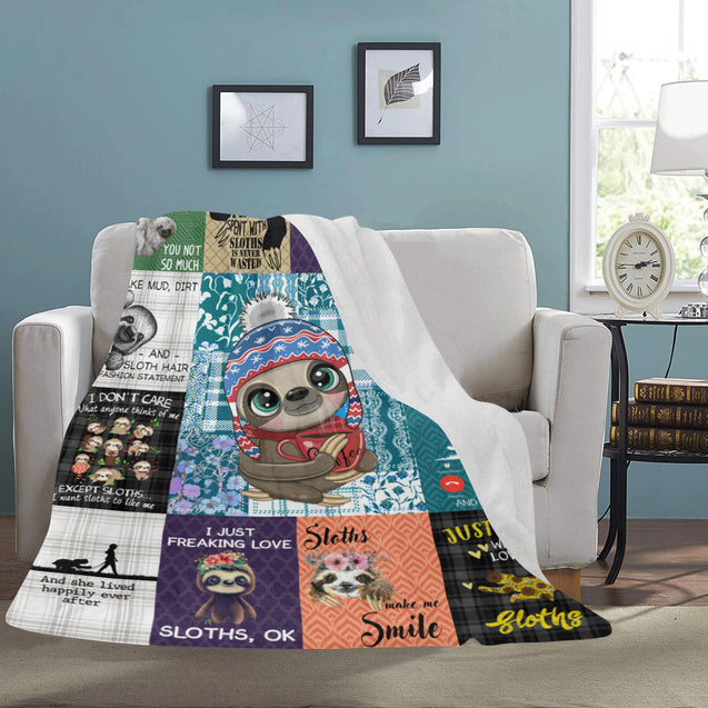 SHN 7 Easily distracted by Sloths Blanket 60'' x 80''