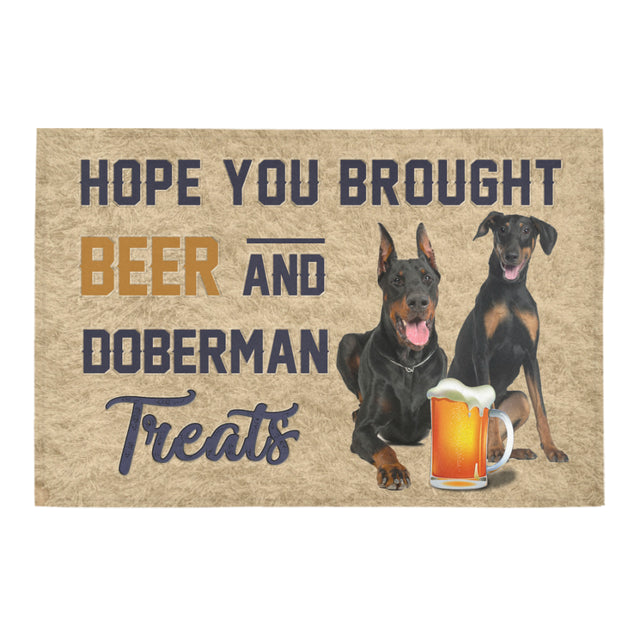 Nh 1 Dobermans beer doormat