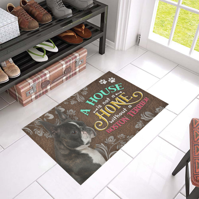 ll 5 boston terrier home doormat