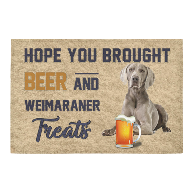 Nh 1 Weimaraner beer doormat
