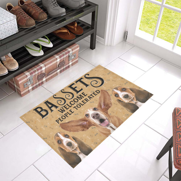 Nh 1 Basset Hound Welcome doormats