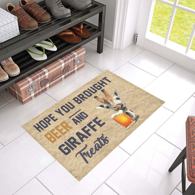 Nh 1 Giraffe Beer Doormat