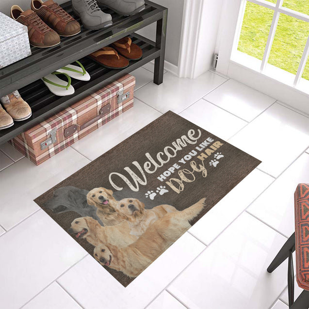 TD 5 Golden Retriever's Hair Doormat
