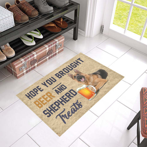 Nh 1 German Shepherd Beer Doormat