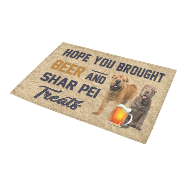 Nh 1 Shar Pei beer doormat