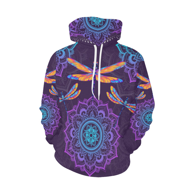 TH 2 Dragonfly Purple Mandala Hoodie