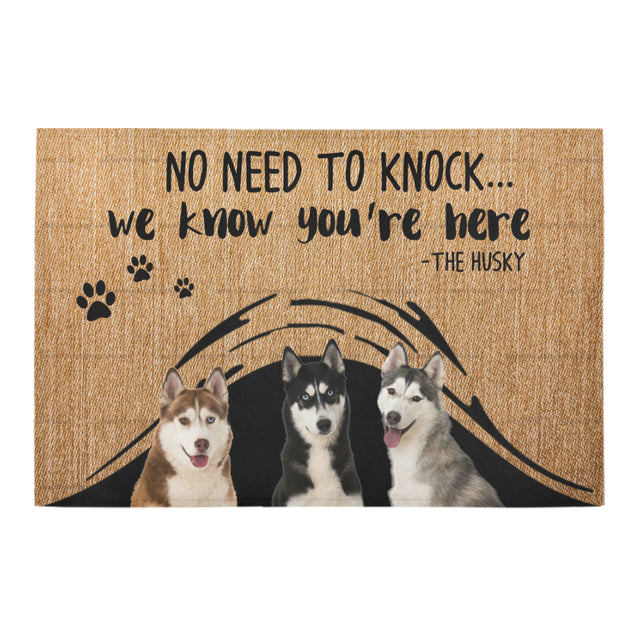 ll 1 siberian husky we know doormat