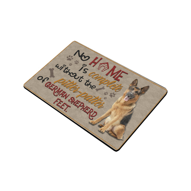 ll 10 german shepherd feet Door Mats