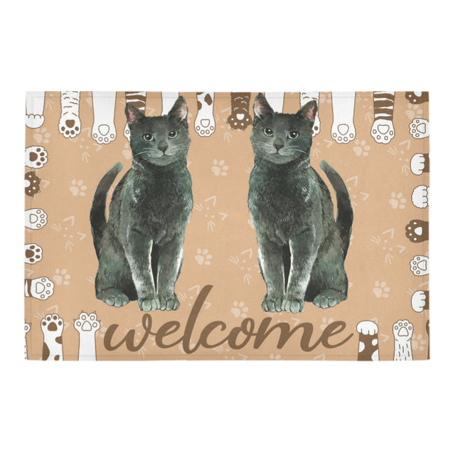 ln 2 cat welcome doormat