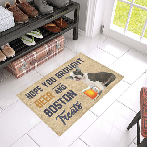 Nh 1 Boston Terrier Beer Doormat